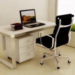 Single streight desk