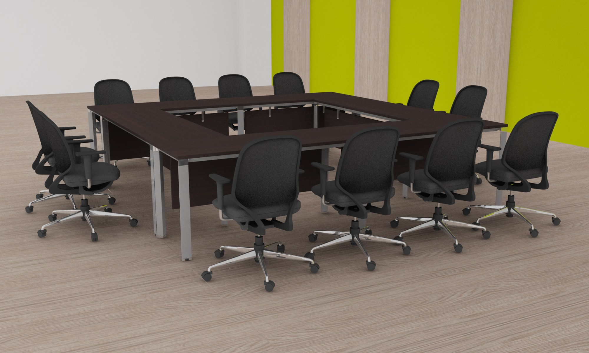 LINZ InternationalMeeting Table - Square conference room table