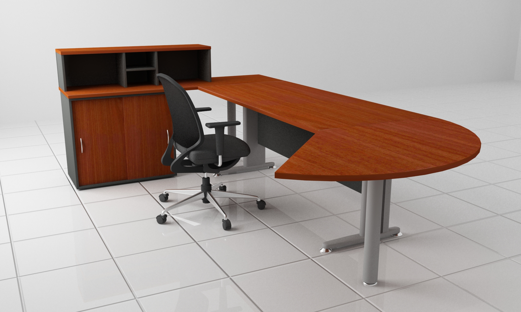 LINZ InternationalExecutive Desks - Desk with meeting table