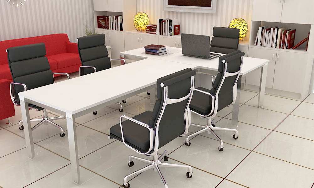 LINZ InternationalExecutive Desk - Desk with meeting table