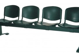 Four Seat Plastic Beam Bench